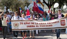 Desfile dedicado al 70.o aniversario de la victoria del mundo Fotos de archivo