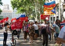 Desfile dedicado al 70.o aniversario de la victoria del mundo Fotografía de archivo