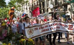 Desfile dedicado al 70.o aniversario de la victoria del mundo Foto de archivo libre de regalías