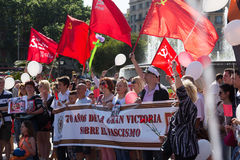 Desfile dedicado al 70.o aniversario de la victoria del mundo Foto de archivo