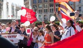 Desfile dedicado al 70.o aniversario de la victoria del mundo Imagen de archivo