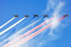 Desfile del aire de Victory Day Imágenes de archivo libres de regalías