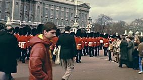 Desfile del Buckingham Palace almacen de video