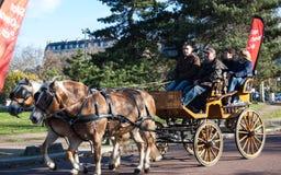 Desfile del caballo de París Imágenes de archivo libres de regalías