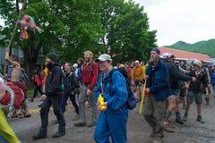 Desfile del caminante - festival de los días del rastro foto de archivo