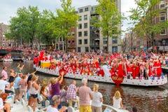 Desfile 2014 del canal de Amsterdam Imágenes de archivo libres de regalías