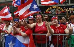 Desfile del día de 2010 puertorriqueños Imagen de archivo libre de regalías