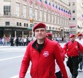 Desfile del día de Columbus foto de archivo
