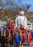 Desfile del día de fiesta de la primavera en la ciudad de Zurich, Suiza fotografía de archivo