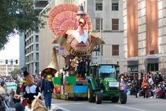 Desfile del día de la acción de gracias de H-E-B imagen de archivo