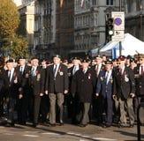 Desfile del día de la conmemoración Foto de archivo