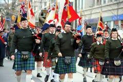 Desfile del día de la conmemoración foto de archivo libre de regalías