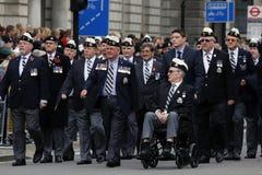 2015, desfile del día de la conmemoración, Londres Foto de archivo
