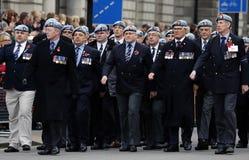 2015, desfile del día de la conmemoración, Londres Foto de archivo libre de regalías