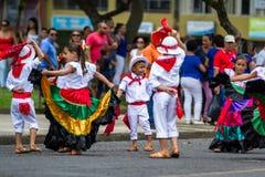 Desfile del Día de la Independencia, Costa Rica imagenes de archivo
