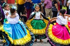 Desfile del Día de la Independencia, Costa Rica imagen de archivo