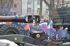 Desfile 2017 del Día de la Independencia de Estonia Foto de archivo libre de regalías