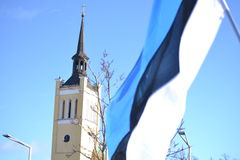 Desfile 2017 del Día de la Independencia de Estonia Foto de archivo