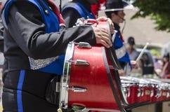 Desfile del Día de la Independencia de los baterías Imagen de archivo