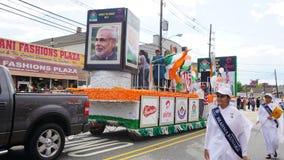 desfile del día de la India de 2015 publicaciones anuales en Edison, New Jersey imagen de archivo libre de regalías