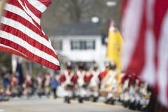 Desfile del día de los patriotas Fotografía de archivo