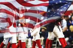 Desfile del día de los patriotas Foto de archivo