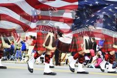 Desfile del día de los patriotas Fotos de archivo libres de regalías