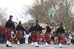Desfile del día de los patriotas Fotografía de archivo libre de regalías