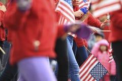 Desfile del día de los patriotas Foto de archivo libre de regalías