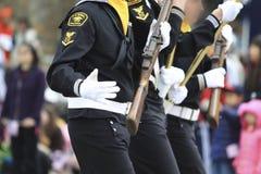Desfile del día de los patriotas Imagen de archivo