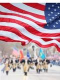 Desfile del día de los patriotas Imagenes de archivo