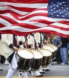 Desfile del día de los patriotas Imagen de archivo libre de regalías