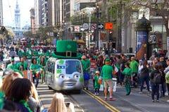 Desfile del día de 168o St Patrick anual de San Francisco foto de archivo