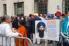 Desfile del día de 2014 sikhs imagen de archivo libre de regalías