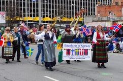 Desfile del día de St Patrick Fotografía de archivo libre de regalías