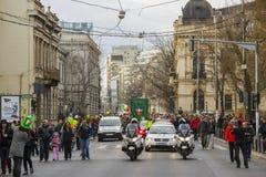 Desfile del día de St Patrick, Bucarest, Rumania fotos de archivo
