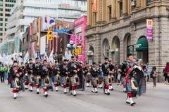 Desfile del día de St Patrick en Toronto foto de archivo