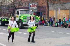 Desfile del día de St.patty Fotos de archivo