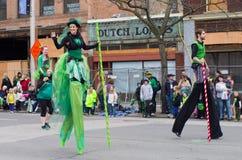 Desfile del día de St.patty Fotos de archivo libres de regalías