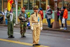 Desfile 2017 del día de veteranos Foto de archivo libre de regalías