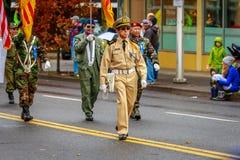 Desfile 2017 del día de veteranos Fotografía de archivo libre de regalías
