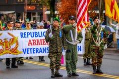 Desfile 2017 del día de veteranos Fotografía de archivo