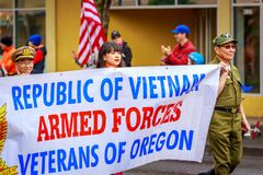 Desfile 2017 del día de veteranos Imagen de archivo libre de regalías