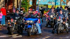 Desfile 2015 del día de veteranos Fotos de archivo