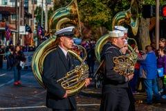 Desfile 2015 del día de veteranos Imágenes de archivo libres de regalías