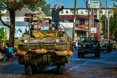 Desfile 2015 del día de veteranos Foto de archivo libre de regalías