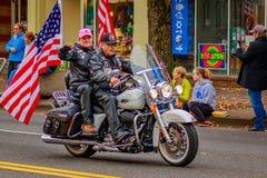 Desfile 2016 del día de veteranos Imágenes de archivo libres de regalías
