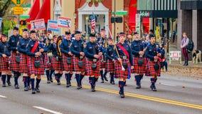 Desfile 2016 del día de veteranos Imagen de archivo libre de regalías