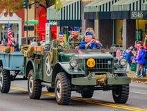 Desfile 2016 del día de veteranos Fotografía de archivo