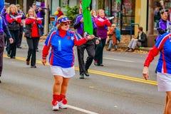 Desfile 2016 del día de veteranos Imagenes de archivo